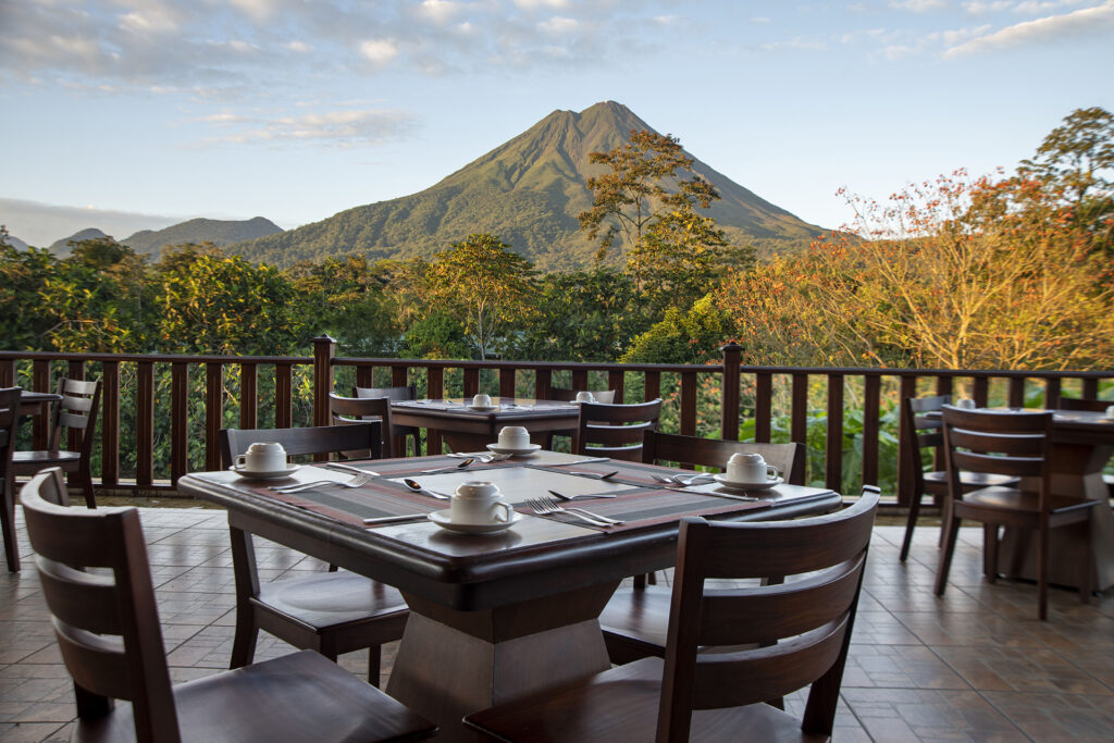 La Saca restaurant with a view of Arenal Volcano