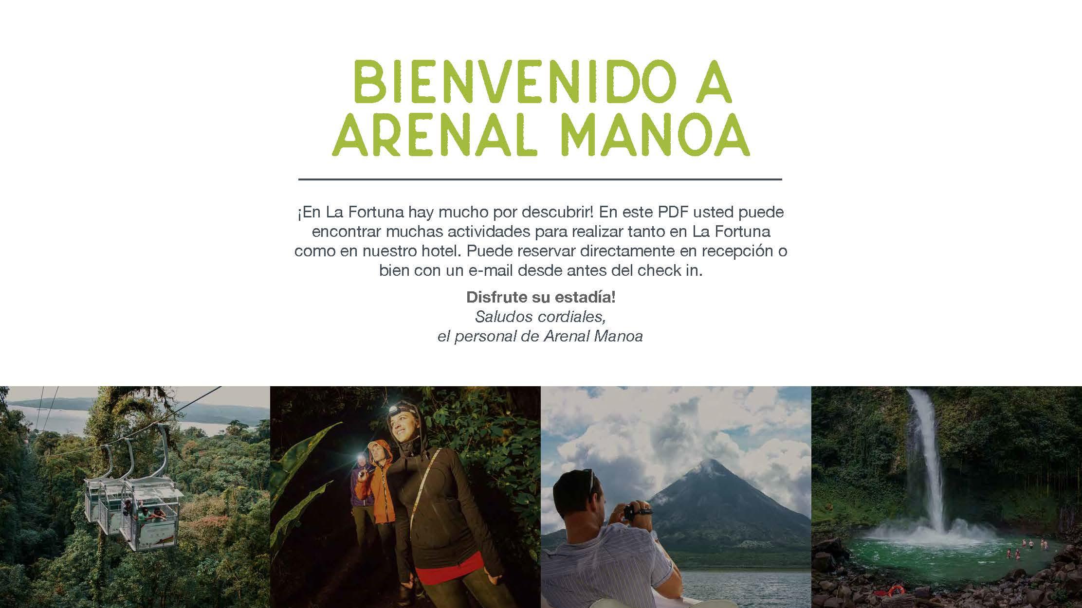 Bienvenido a Arenal Manoa Tours